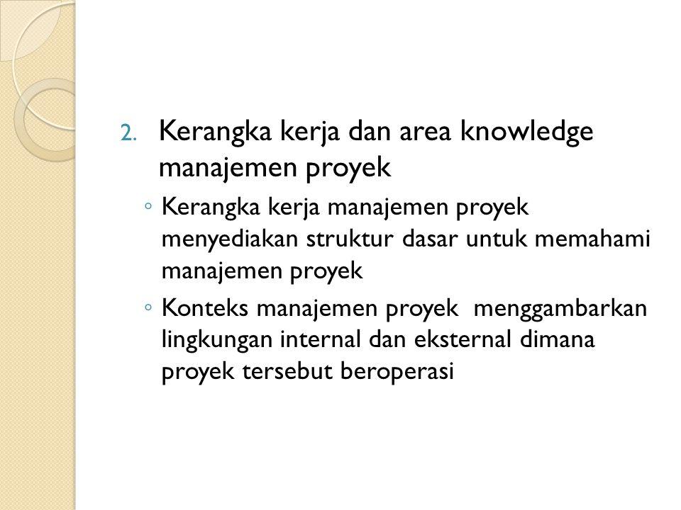 Kerangka kerja dan area knowledge manajemen proyek