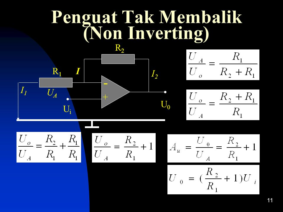 Penguat Tak Membalik (Non Inverting)
