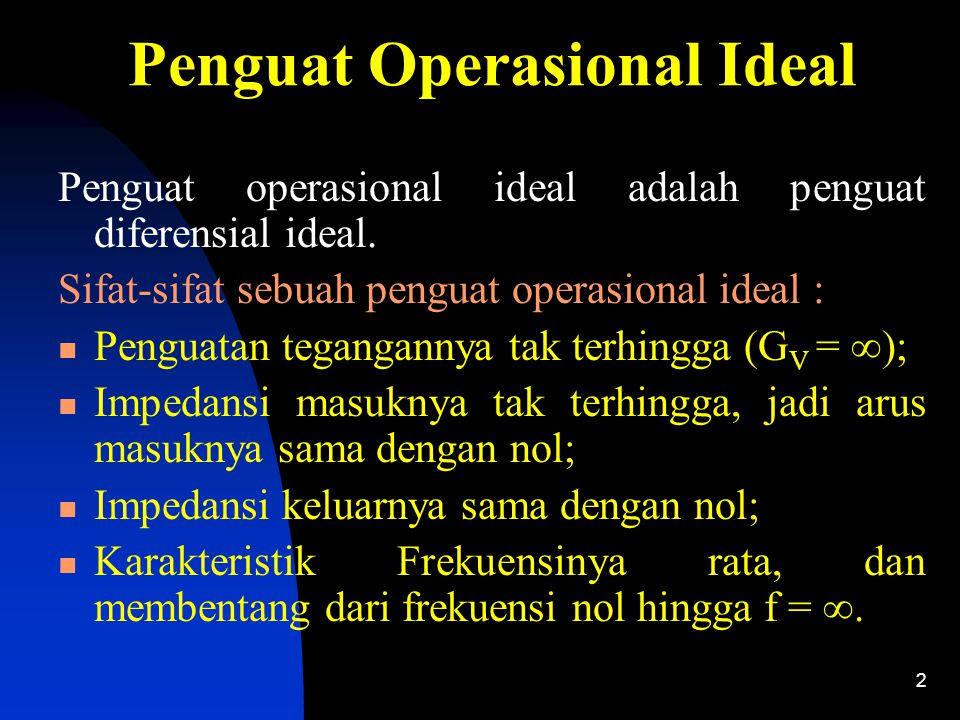 Penguat Operasional Ideal