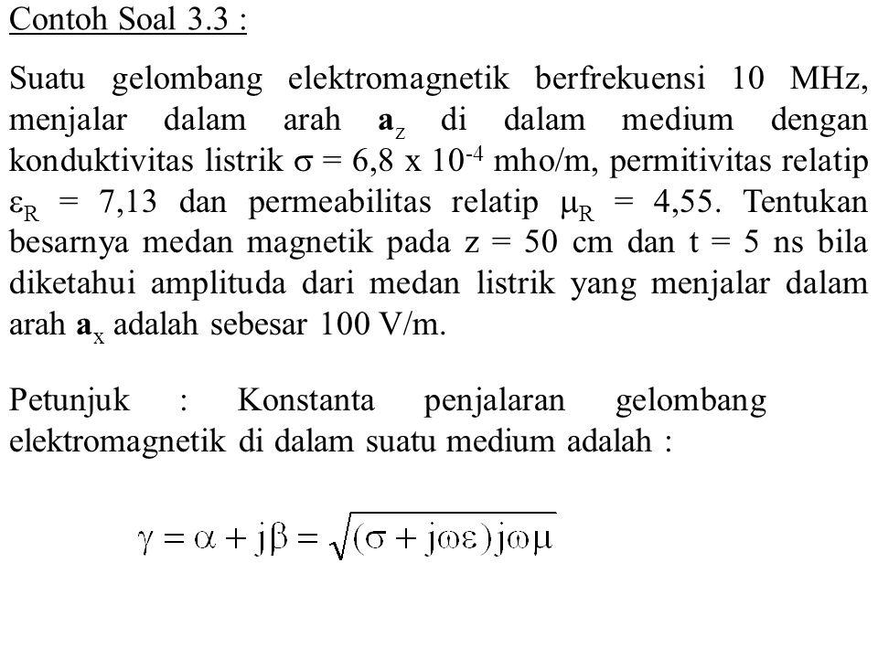 Contoh Soal 3.3 :