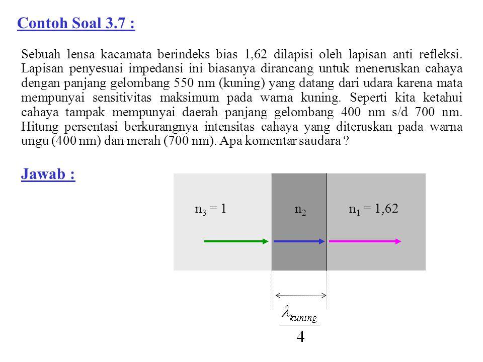 Contoh Soal 3.7 :