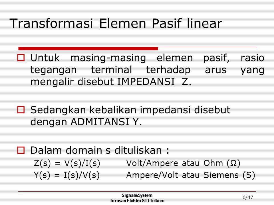 Transformasi Elemen Pasif linear