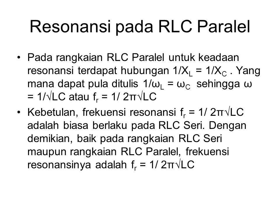 Resonansi pada RLC Paralel