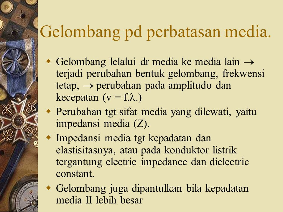 Gelombang pd perbatasan media.