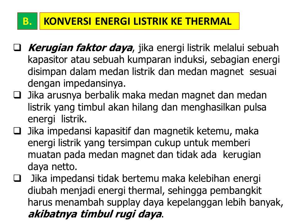 KONVERSI ENERGI LISTRIK KE THERMAL