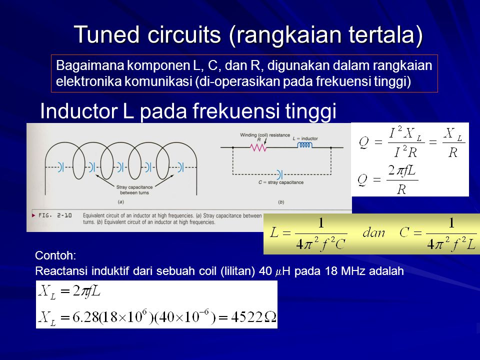 Tuned circuits (rangkaian tertala)