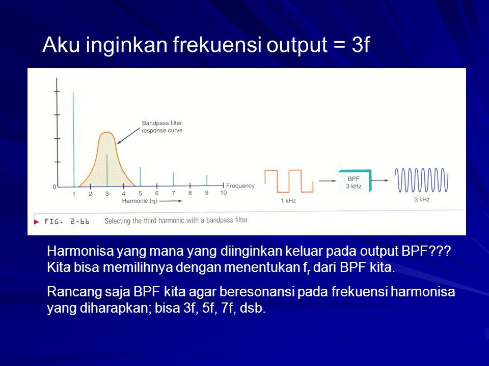 Aku inginkan frekuensi output = 3f