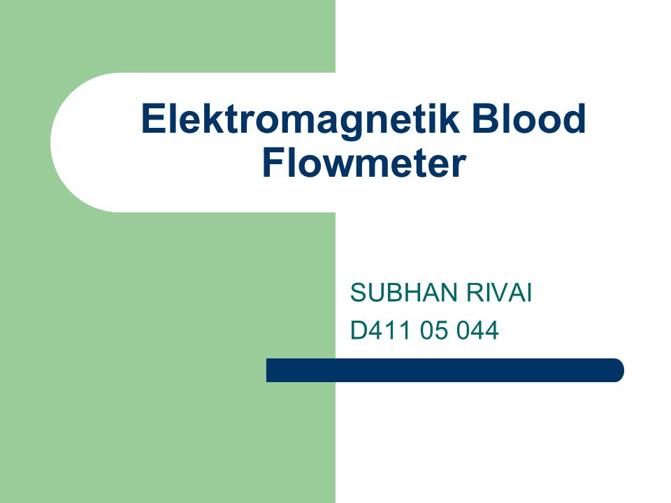 Elektromagnetik Blood Flowmeter