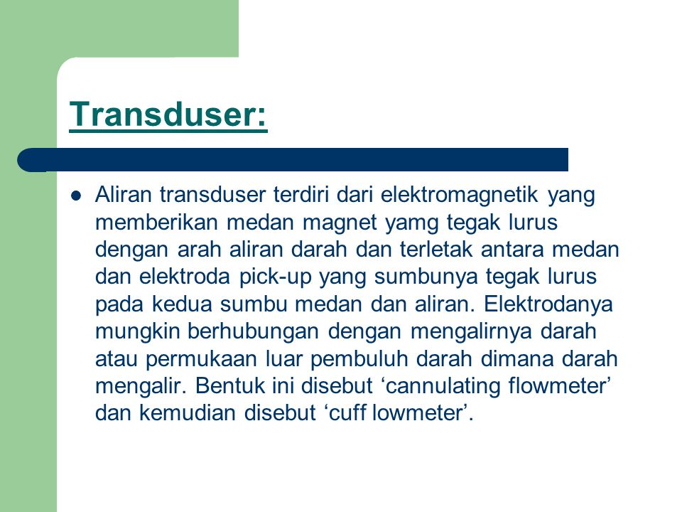 Transduser: