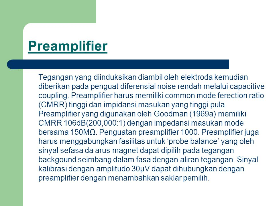 Preamplifier