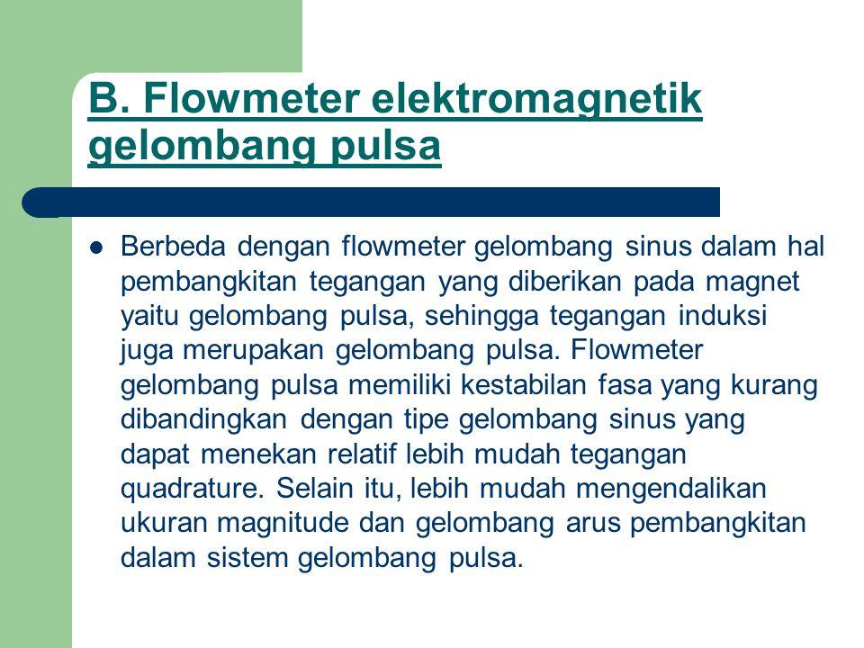 B. Flowmeter elektromagnetik gelombang pulsa