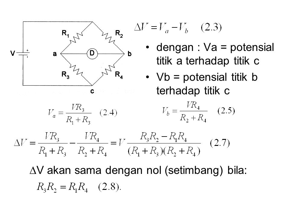 dengan : Va = potensial titik a terhadap titik c