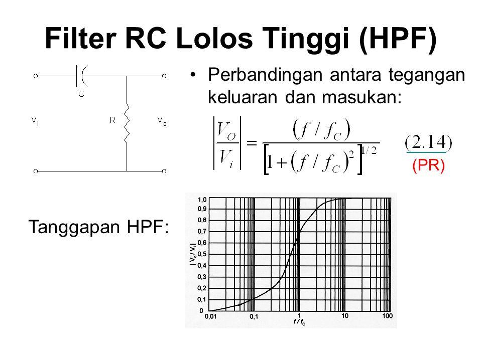 Filter RC Lolos Tinggi (HPF)