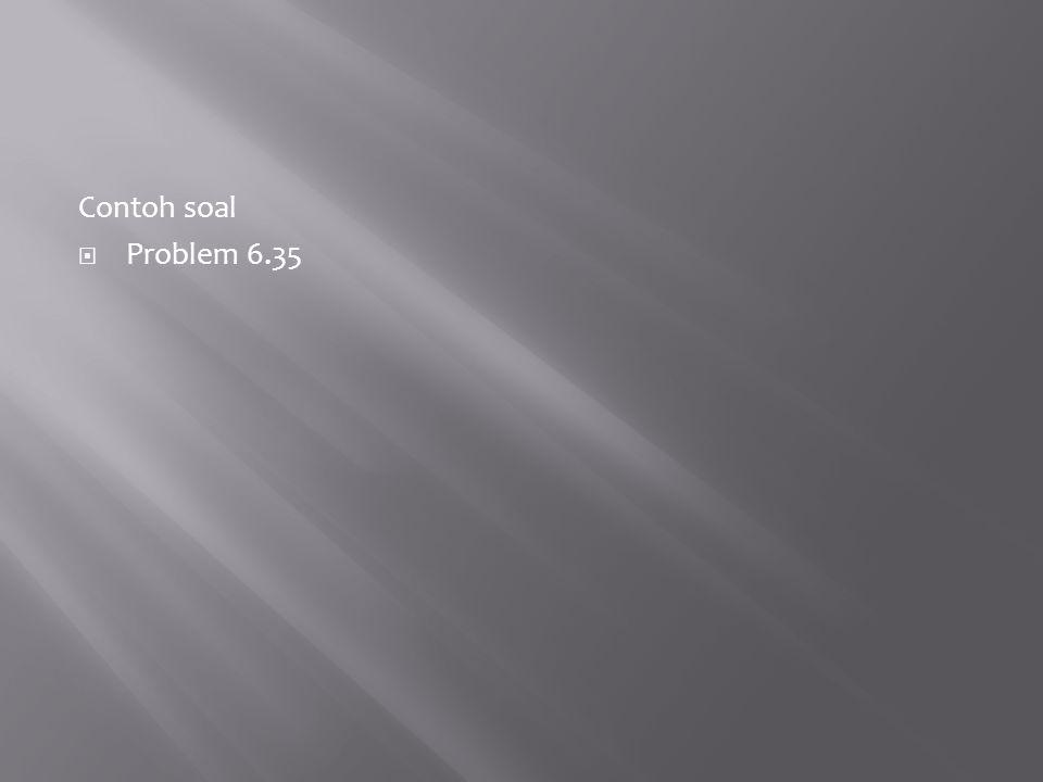 Contoh soal Problem 6.35