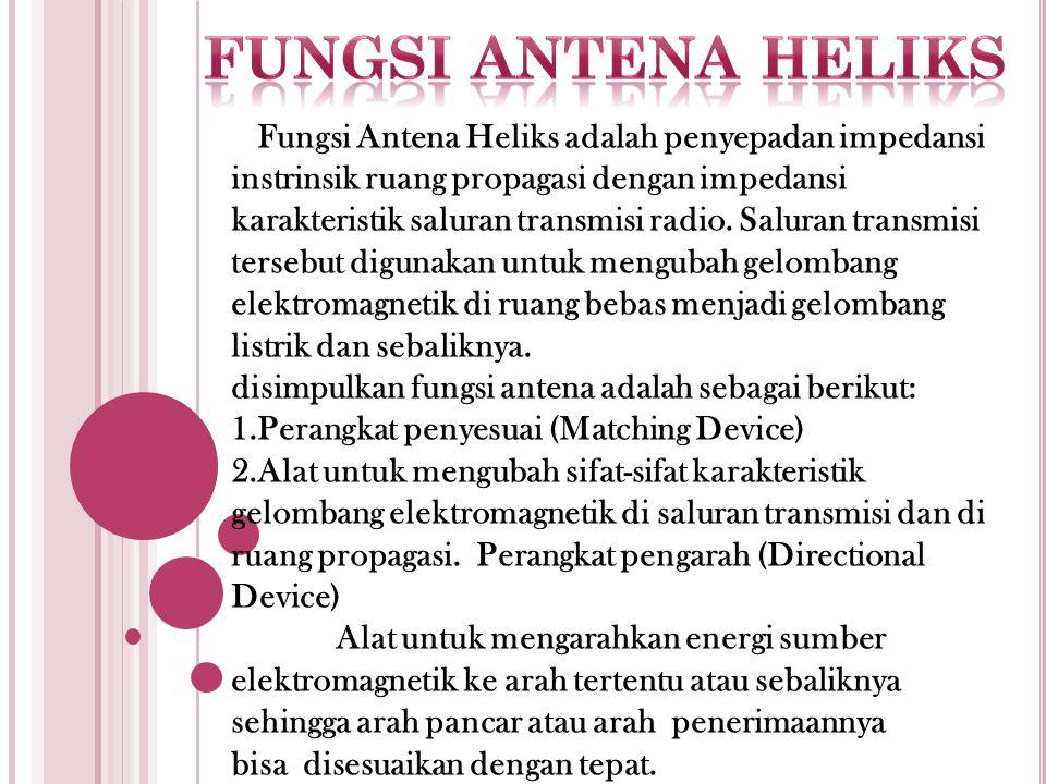 Fungsi antena heliks