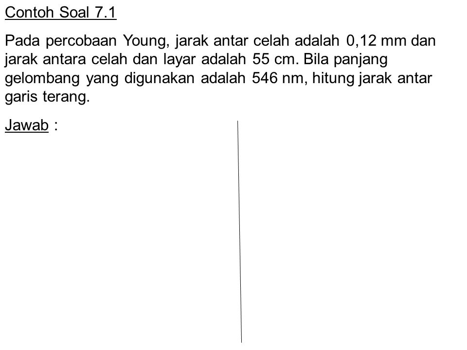 Contoh Soal 7.1