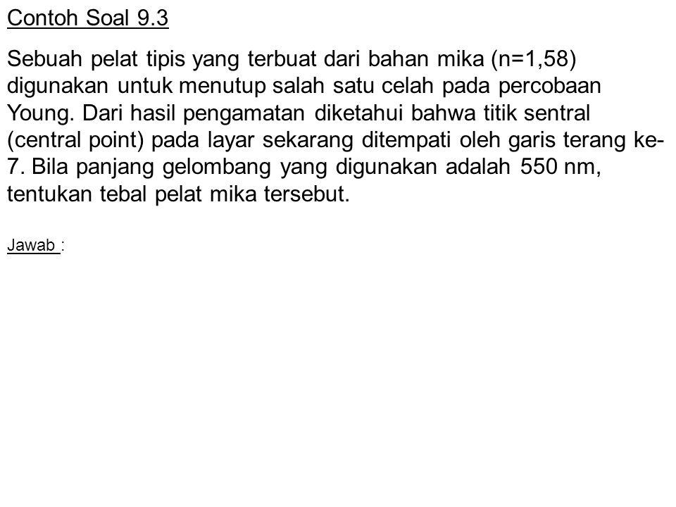 Contoh Soal 9.3