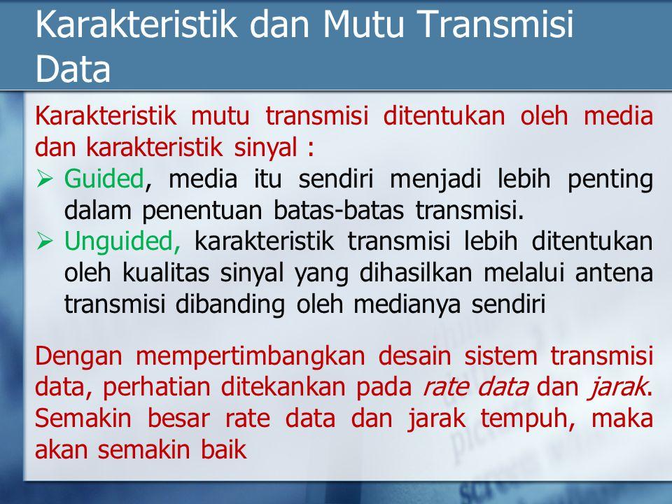 Karakteristik dan Mutu Transmisi Data