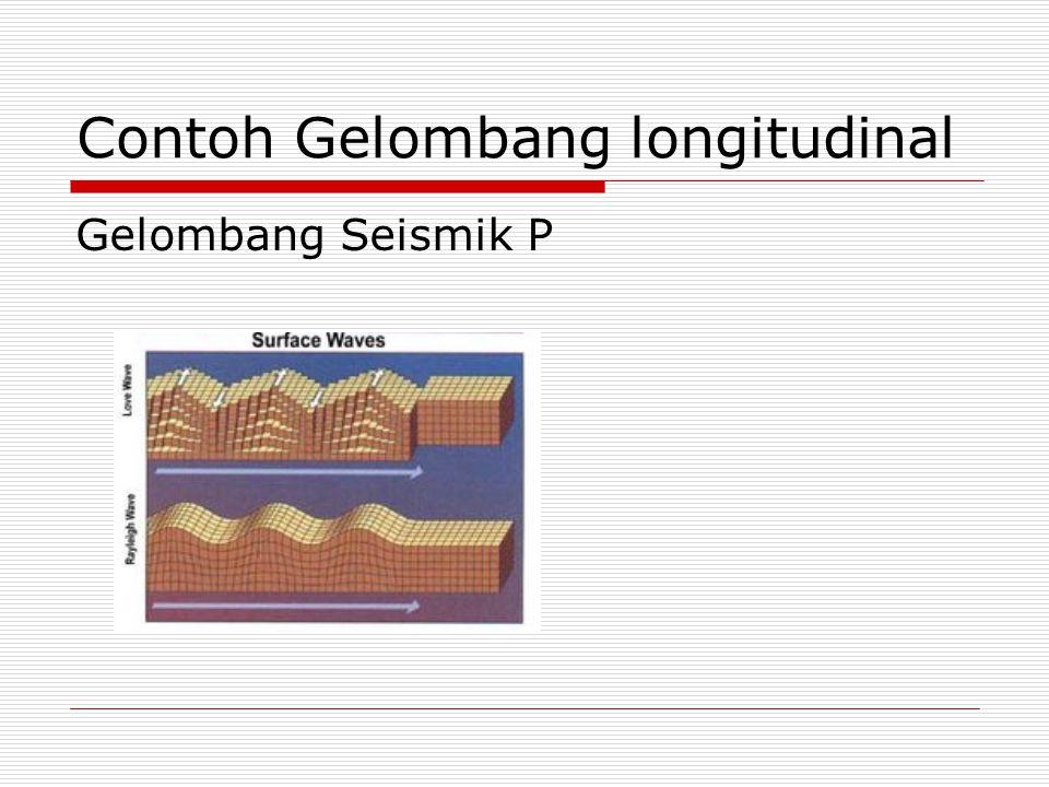 Contoh Gelombang longitudinal