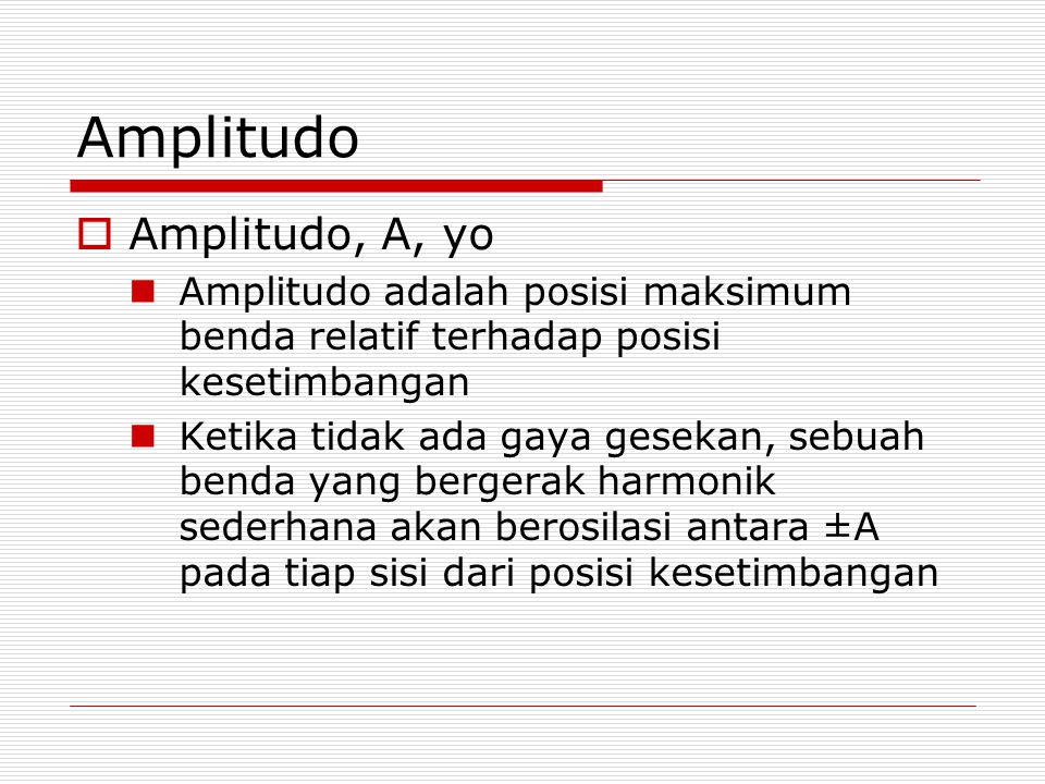 Amplitudo Amplitudo, A, yo