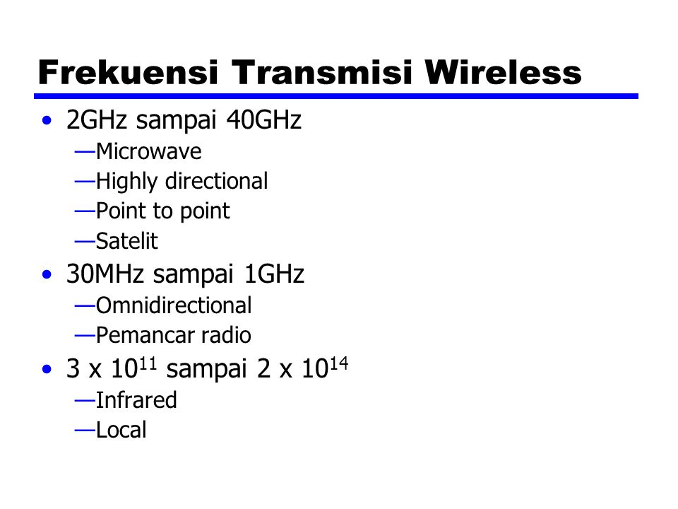 Frekuensi Transmisi Wireless