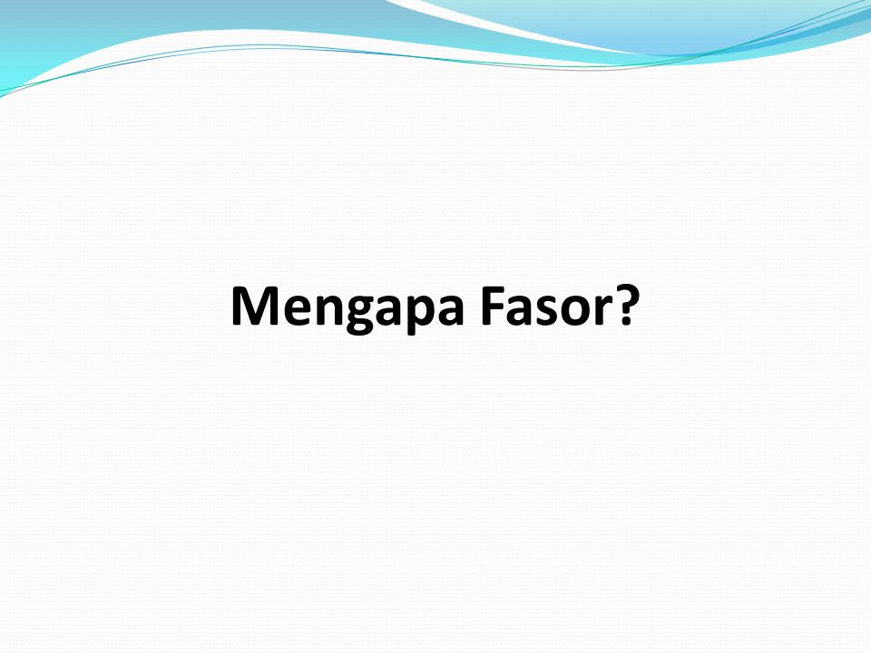 Mengapa Fasor