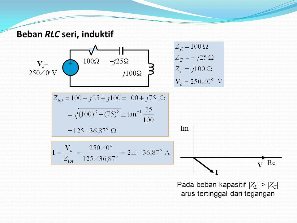 Beban RLC seri, induktif