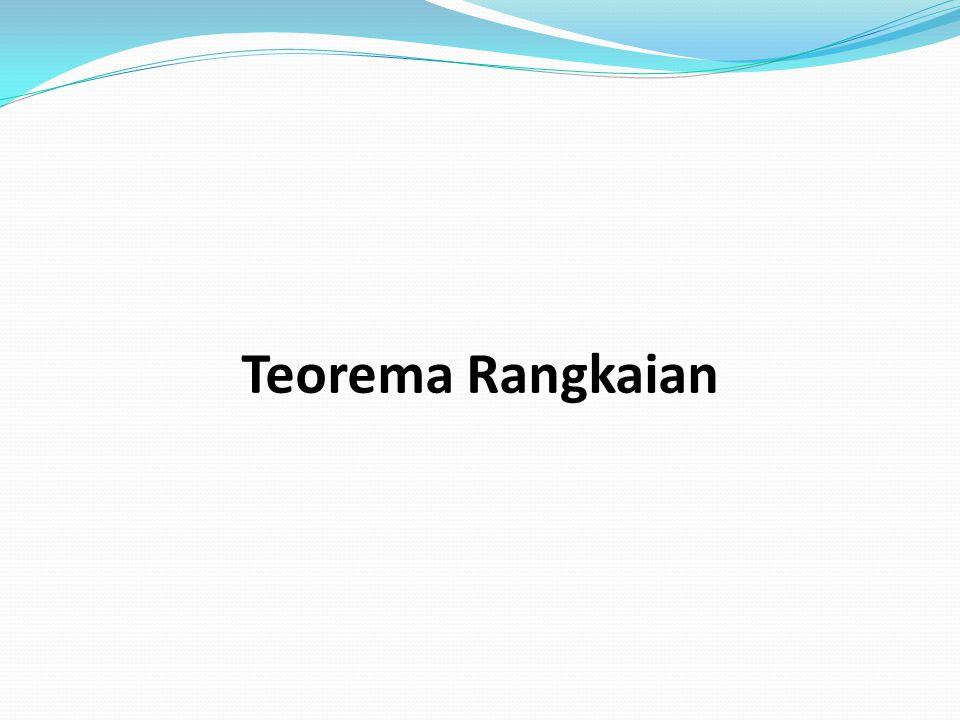 Teorema Rangkaian