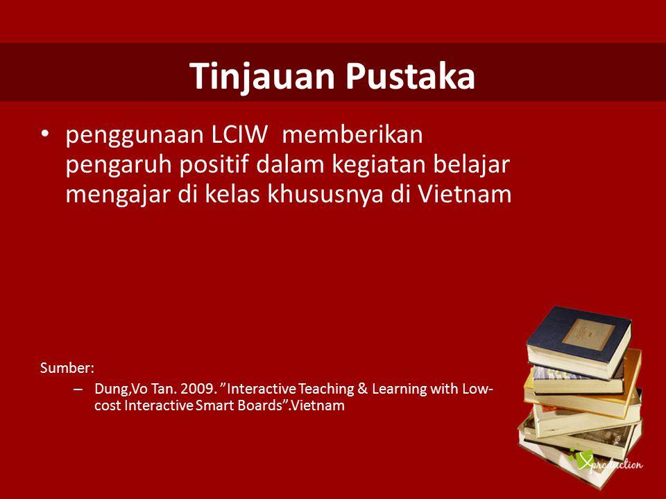 Tinjauan Pustaka penggunaan LCIW memberikan pengaruh positif dalam kegiatan belajar mengajar di kelas khususnya di Vietnam.