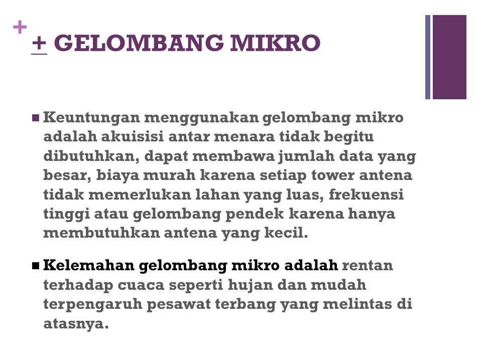 + GELOMBANG MIKRO