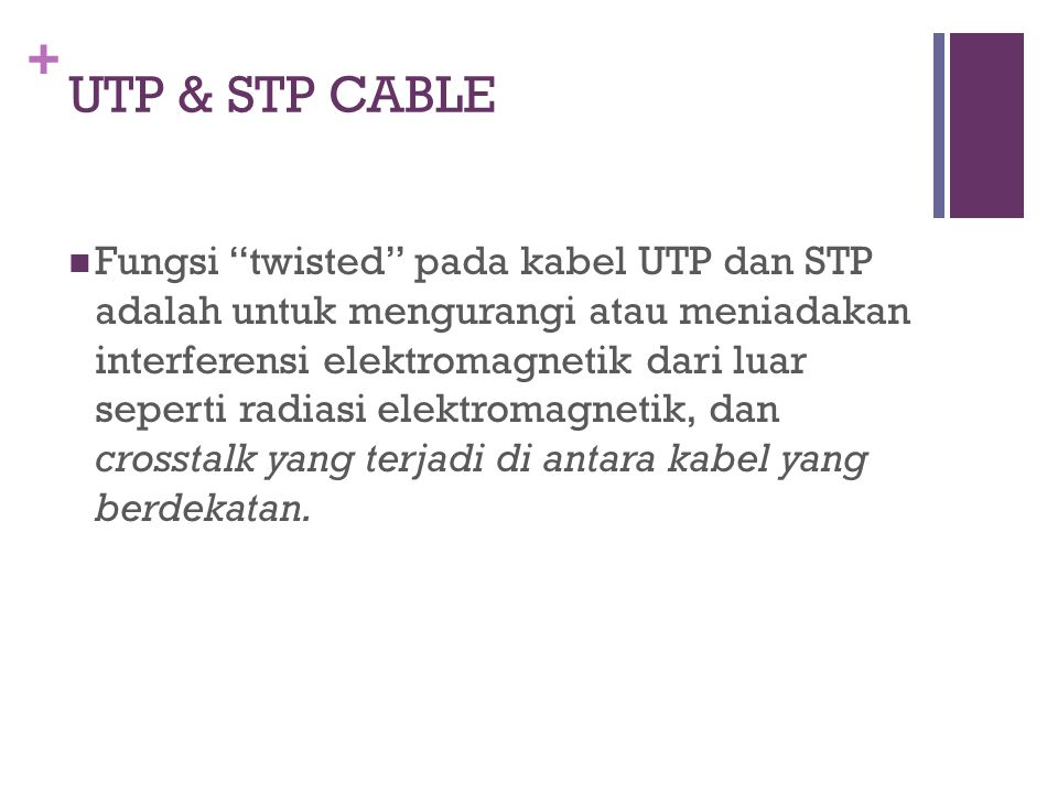 UTP & STP CABLE
