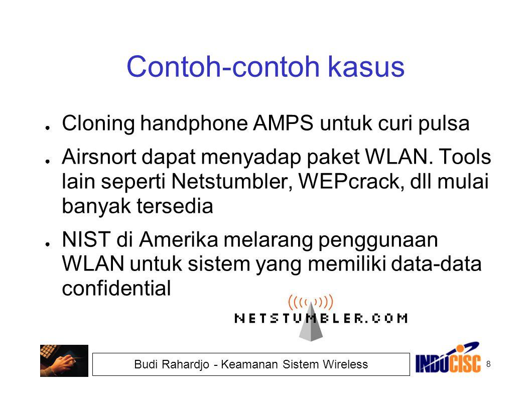 Contoh-contoh kasus Cloning handphone AMPS untuk curi pulsa