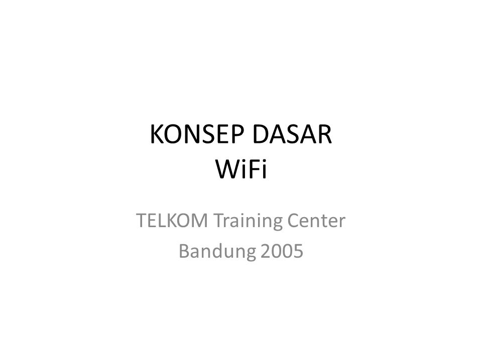TELKOM Training Center Bandung 2005
