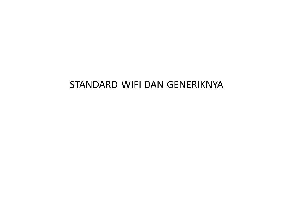 STANDARD WIFI DAN GENERIKNYA