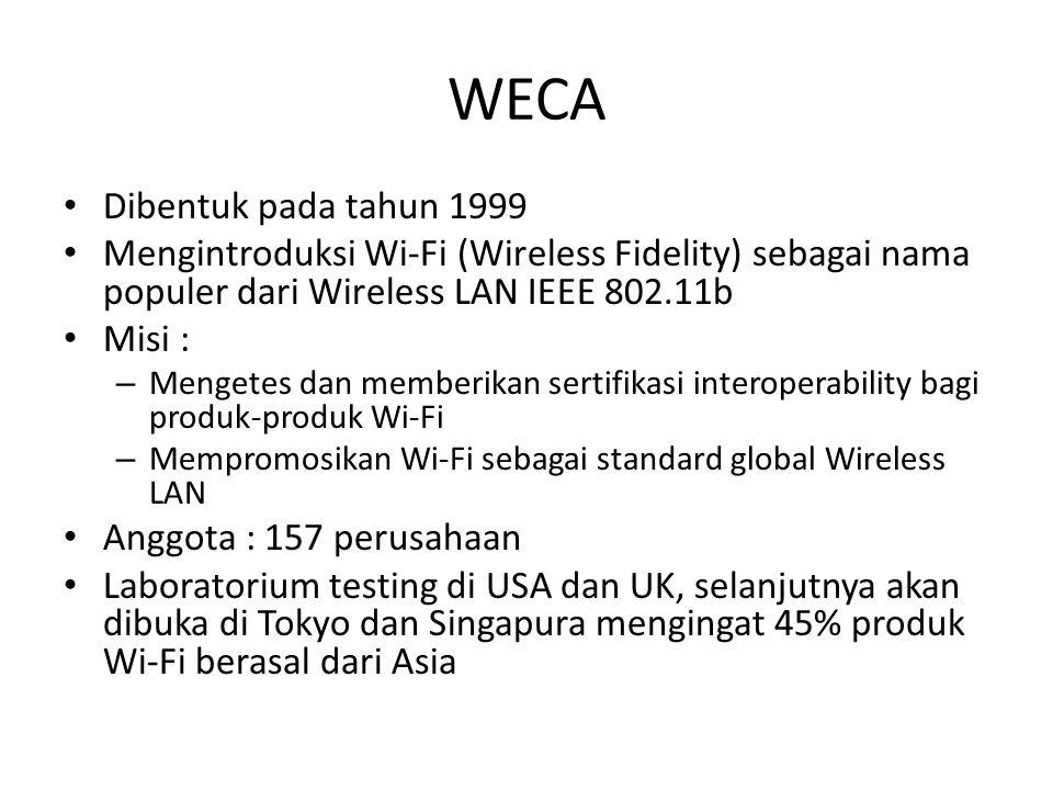 WECA Dibentuk pada tahun 1999