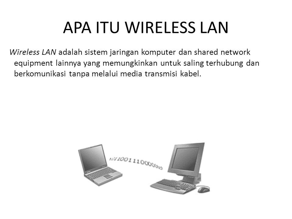 APA ITU WIRELESS LAN