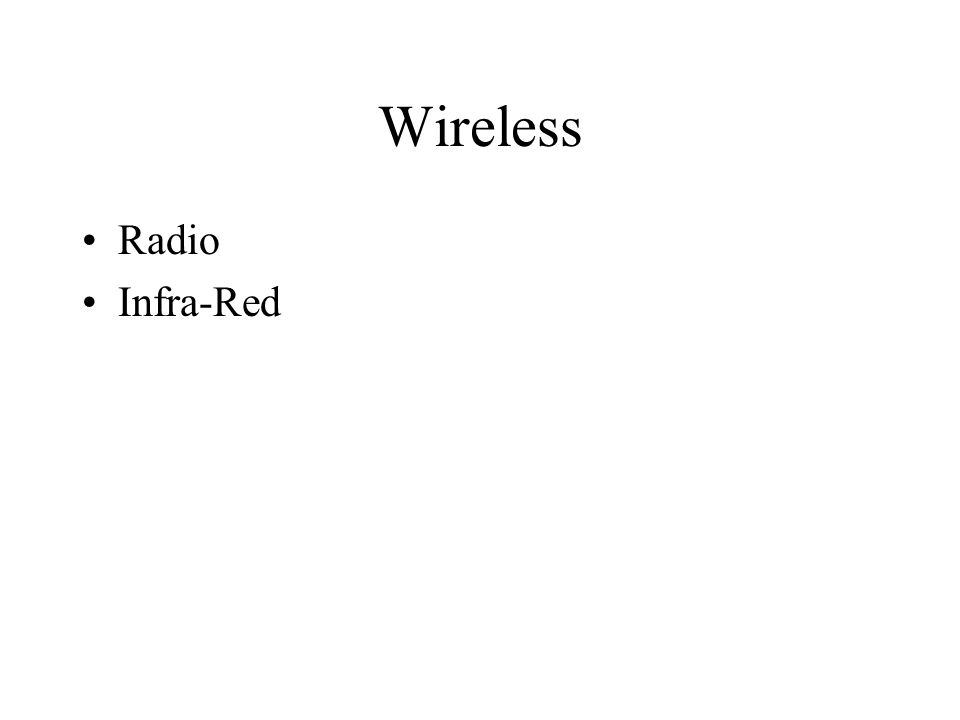 Wireless Radio Infra-Red