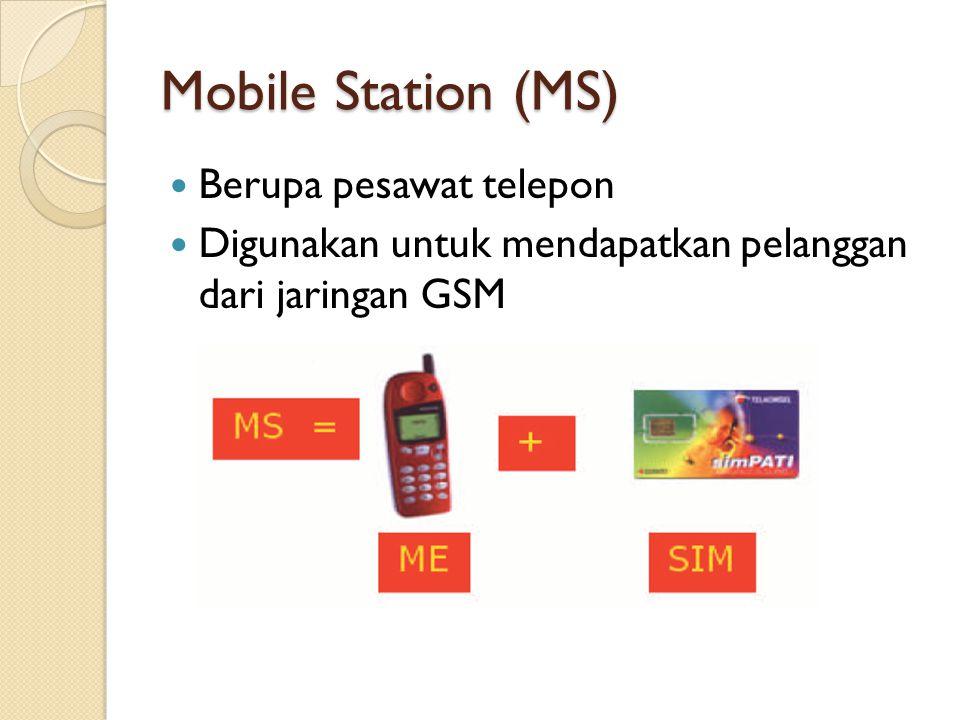 Mobile Station (MS) Berupa pesawat telepon