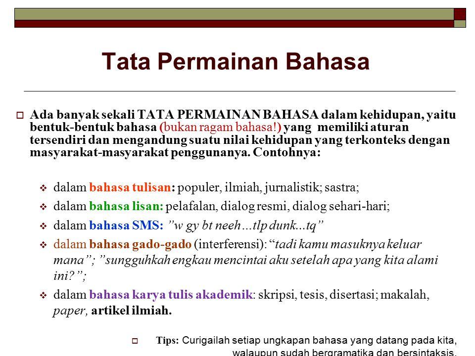 Tata Permainan Bahasa