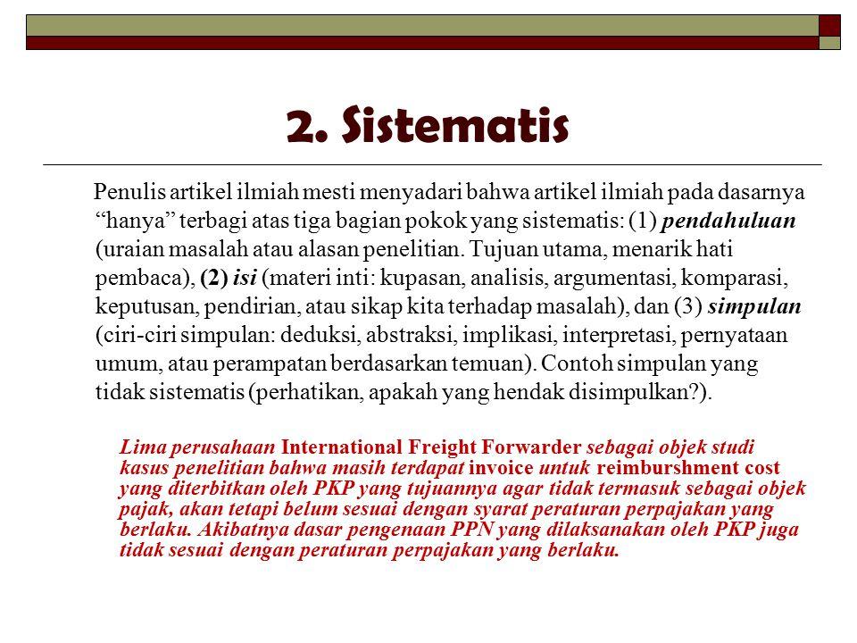 2. Sistematis