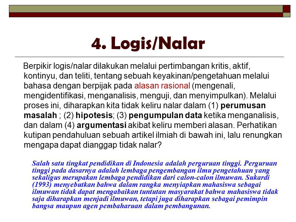 4. Logis/Nalar