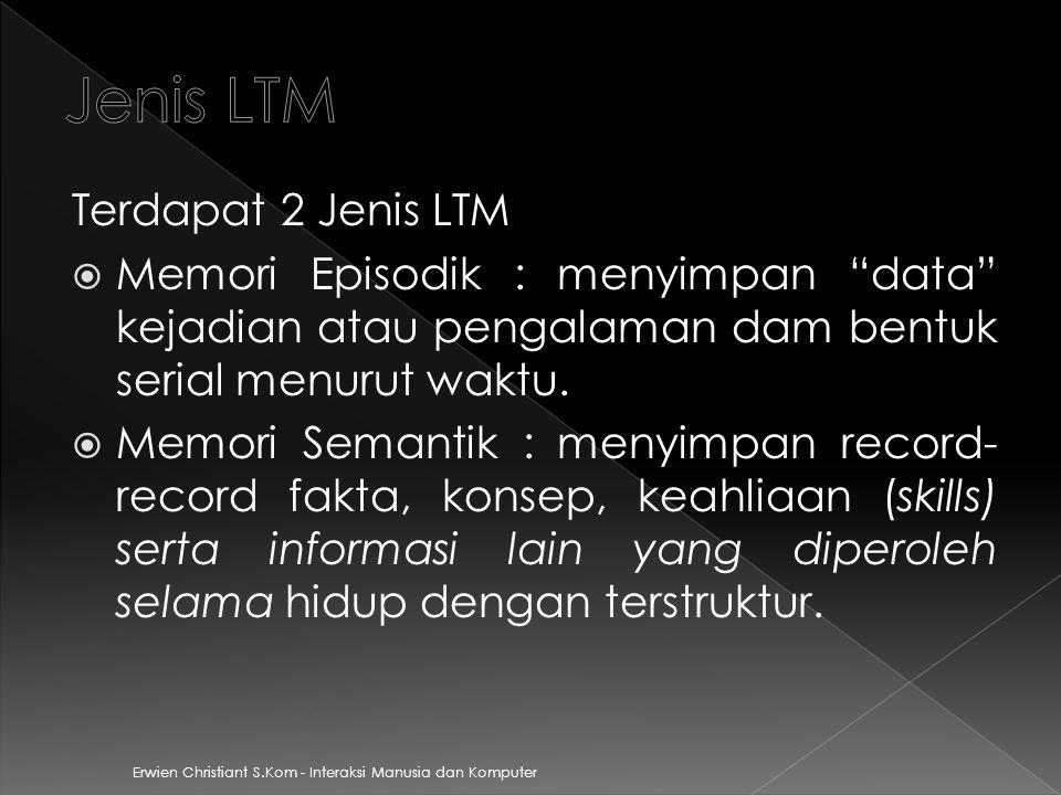 Jenis LTM Terdapat 2 Jenis LTM