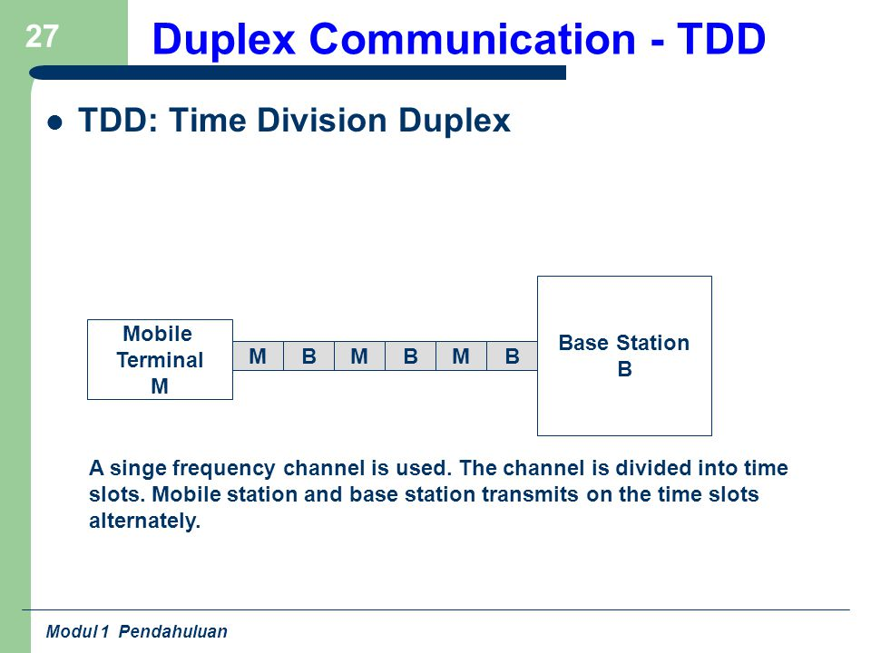Duplex Communication - TDD