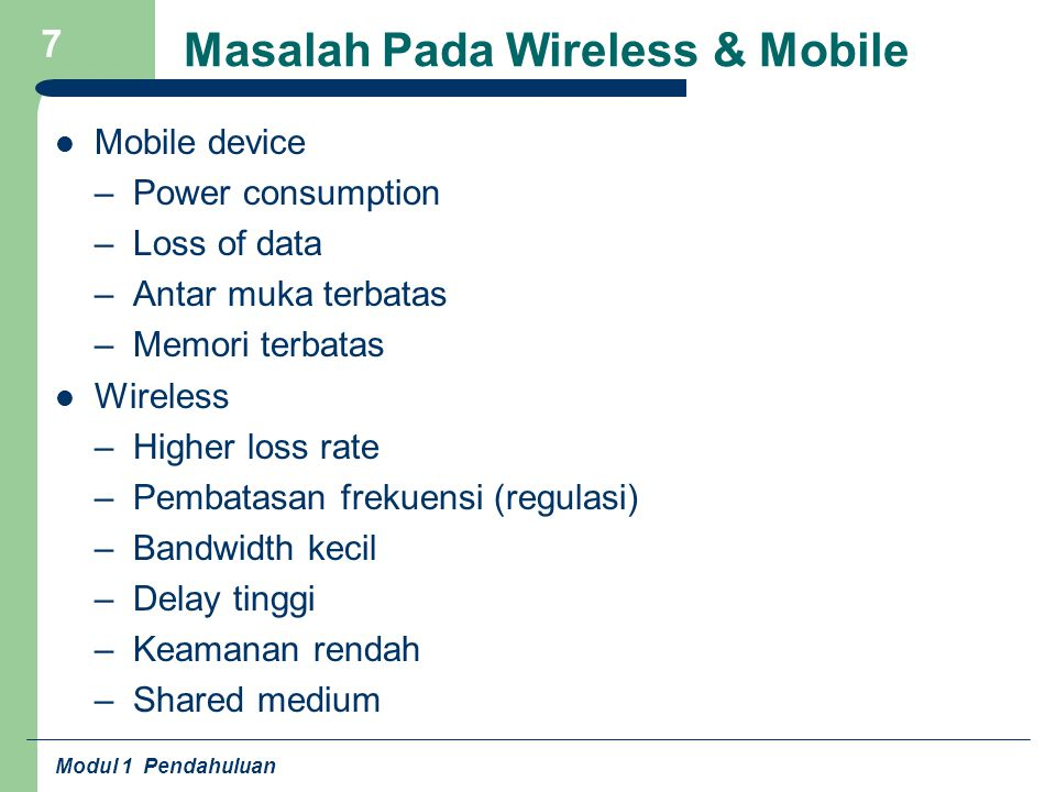 Masalah Pada Wireless & Mobile
