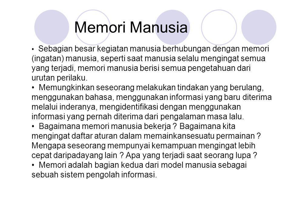 Memori Manusia