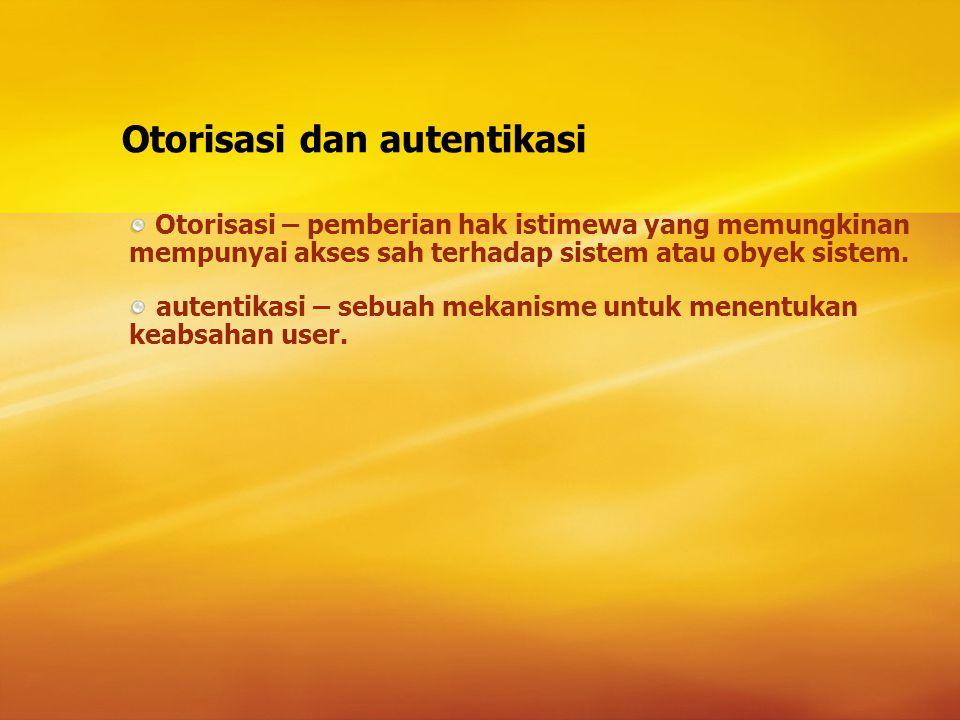 Otorisasi dan autentikasi