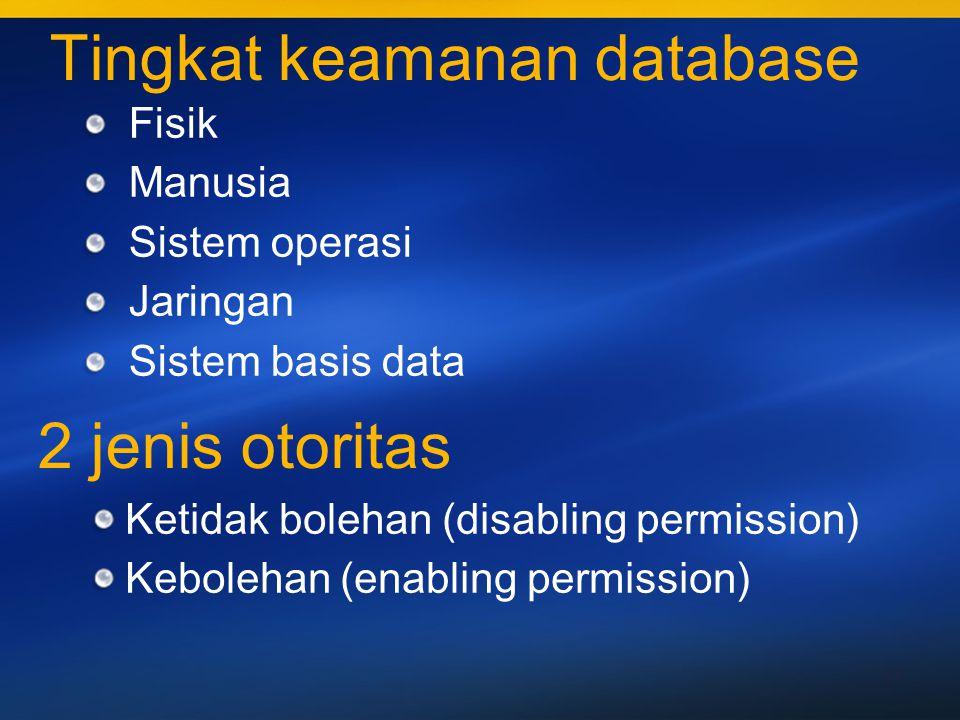 Tingkat keamanan database