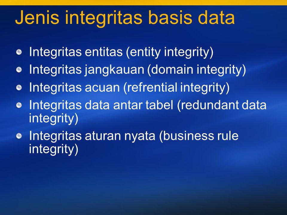 Jenis integritas basis data