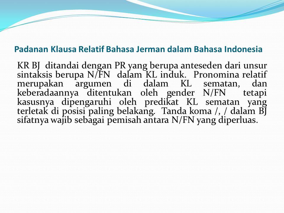 Padanan Klausa Relatif Bahasa Jerman dalam Bahasa Indonesia