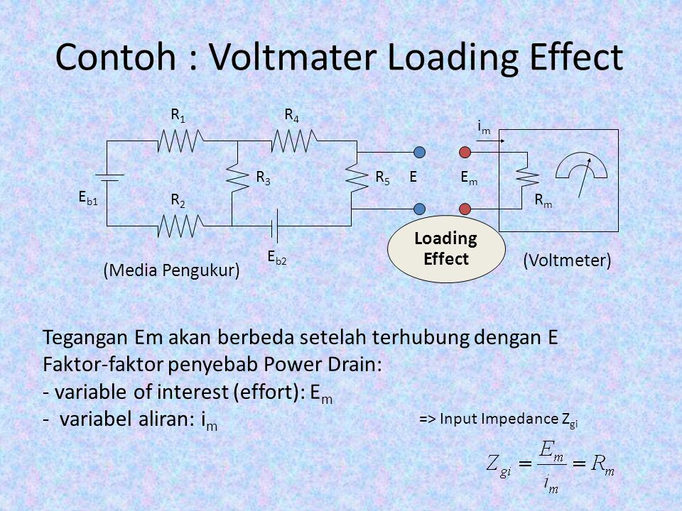 Contoh : Voltmater Loading Effect